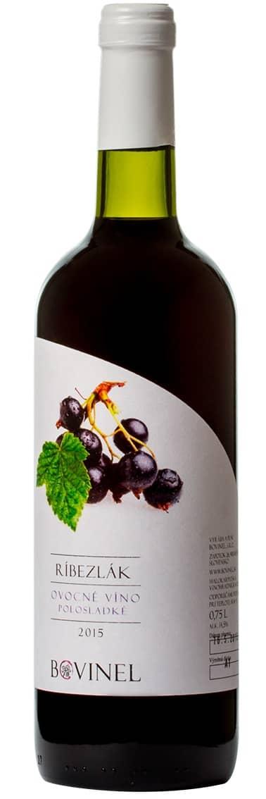 Víno Bovinel - Ríbezlák 2015 ovocné víno sladké