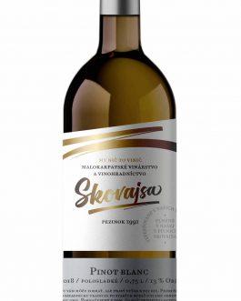 Víno Skovajsa - Pinot Blanc 2018 polosladké