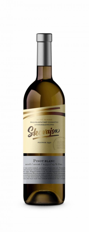 Víno Skovajsa - Pinot blanc 2018 suché